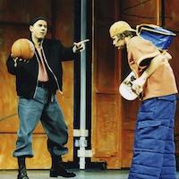 """Volkstheater Wien 1999 """"Bella, Boss und Bulli"""" (mit Günther Wiederschwinger) <br />© Regine Hendrich"""