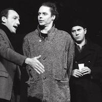"""Volkstheater Wien 2000 """"König Ottokars Glück und Ende"""" <br />(Probenfoto mit Karl Markovics, Günther Wiederschwinger) © Martin Vukovits"""
